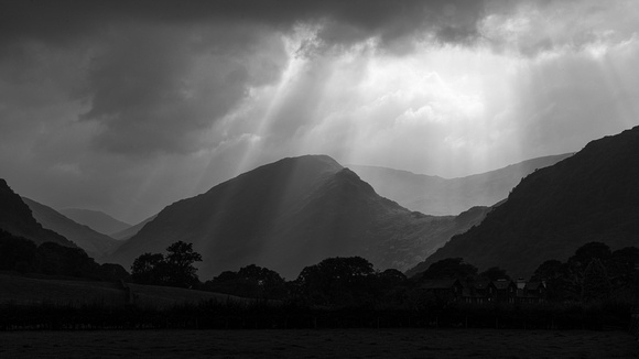 Moody light over Borrowdale